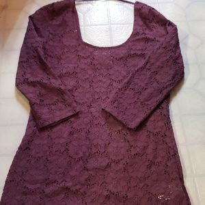 Purple Pins and Needle top